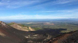 Le volcan Cerro Negro : noir et beau