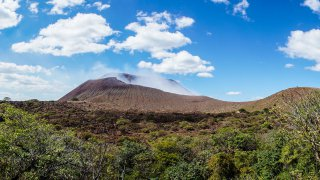 illustration régions volcans de león . zone leon