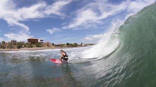 Illustration region surfer au nicaragua/ Zone pacifique