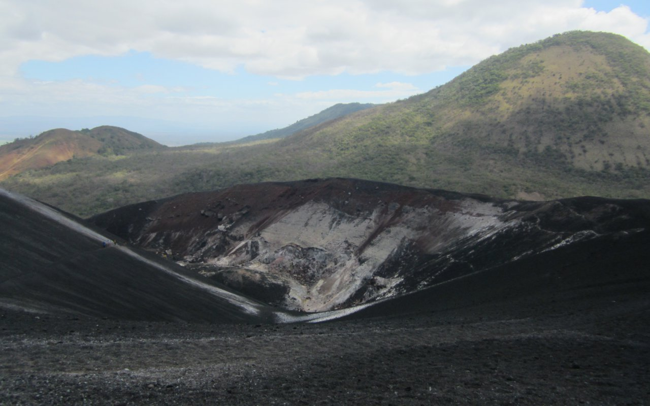 illustration regions volcans de leon / zone leon