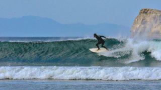 illustration region surfer au Nicaragua / zone pacifique