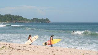 Illustration region surfer au nicaragua. Zone Pacifique