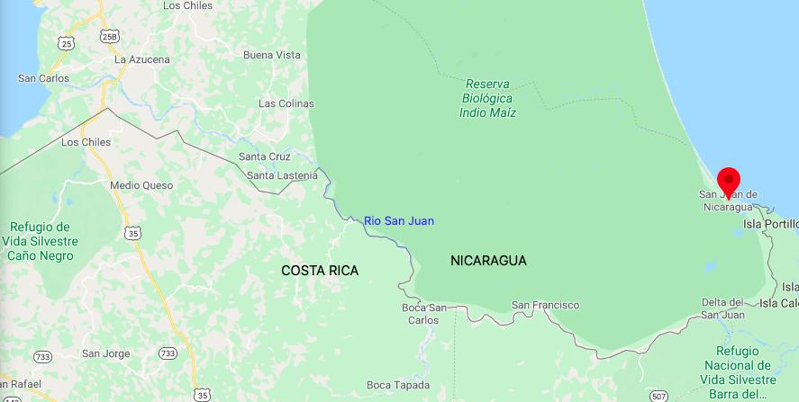 Illustration région San Juan del Norte / zone Caraibes